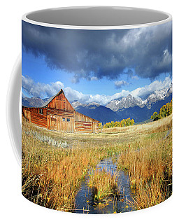 Coffee Mug featuring the photograph Mormon Row by Ronnie and Frances Howard