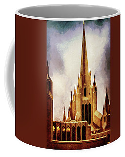 Mormon Temple Steeple Coffee Mug by Joseph Hollingsworth