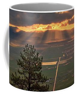 Morning Angel Lights Over The Valley Coffee Mug