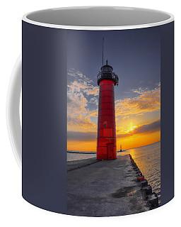Morning At The Kenosha Lighthouse Coffee Mug