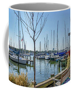 Morning At The Marina Coffee Mug