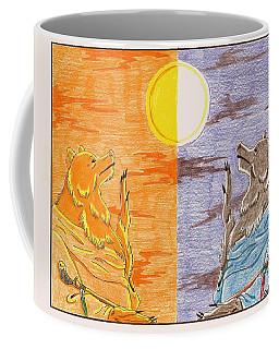 Morning Bear Greets The Sun, Evening Bear Greets The Moon Coffee Mug