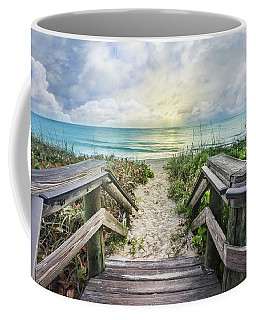 Coffee Mug featuring the photograph Morning Blues At The Dune by Debra and Dave Vanderlaan