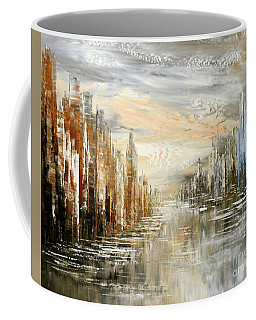 Coffee Mug featuring the painting Morning By The Sea by Tatiana Iliina