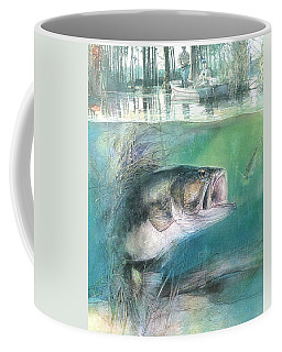 Coffee Mug featuring the painting Morning Catch by John Dyess