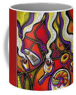 Coffee Mug featuring the painting Morning Coffee Cup And Muffin  by Leon Zernitsky