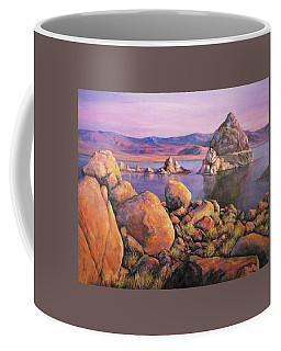 Morning Colors At Lake Pyramid Coffee Mug by Donna Tucker