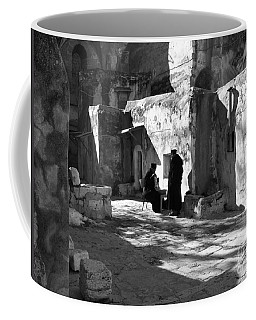 Morning Conversation In Bw Coffee Mug