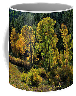 Coffee Mug featuring the photograph Morning Cottonwoods by Ron Cline