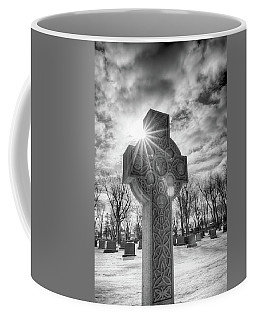 Coffee Mug featuring the photograph Morning Cross by Guy Whiteley