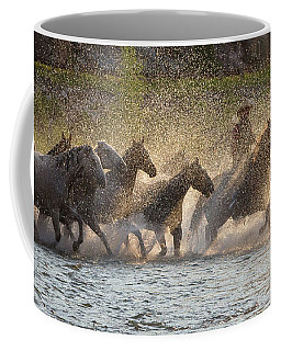 Coffee Mug featuring the photograph Morning Crossing by Jack Bell