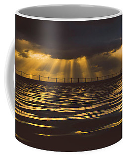 Coffee Mug featuring the photograph Morning Dip by Chris Cousins
