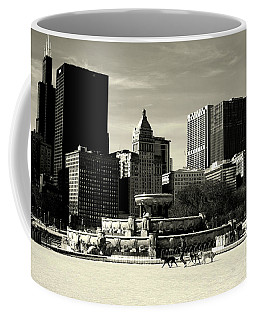 Morning Dog Walk - City Of Chicago Coffee Mug