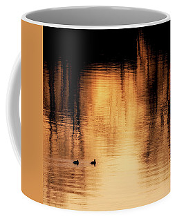 Coffee Mug featuring the photograph Morning Ducks 2017 Square by Bill Wakeley