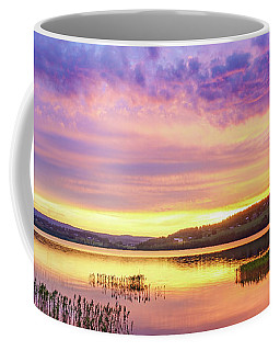 Coffee Mug featuring the photograph Morning Fire by Dmytro Korol