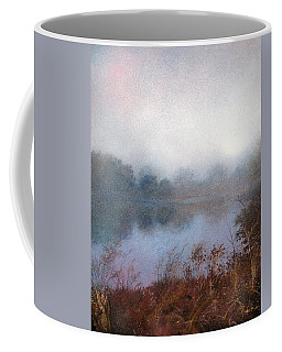 Coffee Mug featuring the painting Morning Fog by Andrew King