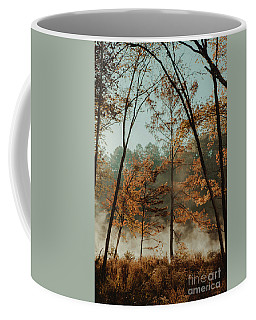 Morning Fog At The River Coffee Mug by Iris Greenwell