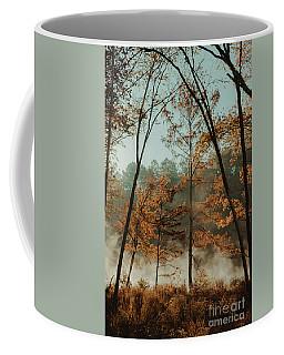 Morning Fog At The River Coffee Mug