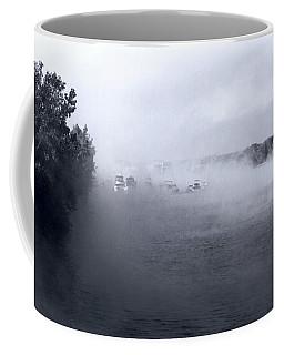 Coffee Mug featuring the photograph Morning Fog - Hudson River by John Schneider