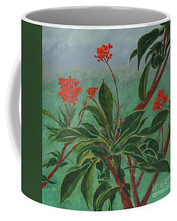 Morning Fog In The Garden Coffee Mug