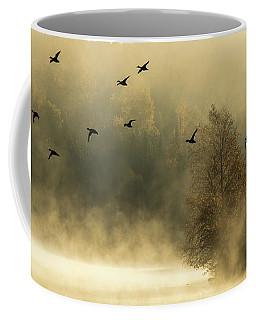 Morning Fog On Haley Pond In Rangeley Maine Coffee Mug