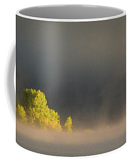 Morning Fog On Jackson Lake Grand Teton National Park  Coffee Mug