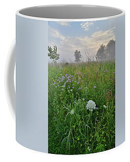 Morning Fog Over Glacial Park Prairie Coffee Mug