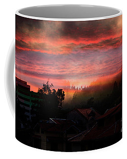 Morning Fog Over The Bosque De Monay Coffee Mug by Al Bourassa