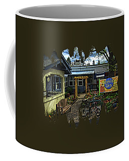Coffee Mug featuring the photograph Morning Glory Cafe Ashland by Thom Zehrfeld