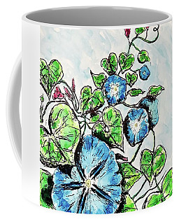 Coffee Mug featuring the painting Morning Glory by Monique Faella