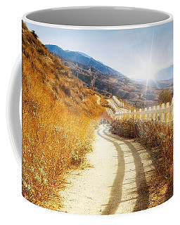 Coffee Mug featuring the photograph Morning Hike by Alison Frank