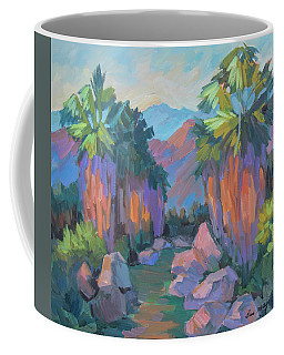 Coffee Mug featuring the painting Morning Indian Canyon by Diane McClary