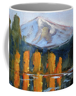 Morning Light Mountain Landscape Painting Coffee Mug