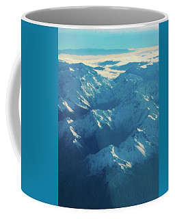 Coffee Mug featuring the photograph Morning Light On The Southern Alps by Steve Taylor
