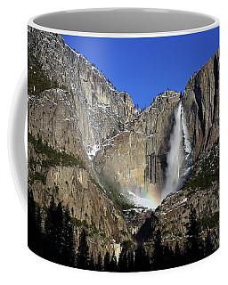 Morning Light On Upper Yosemite Falls In Winter Coffee Mug