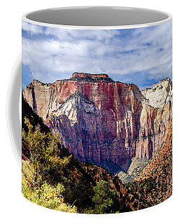 Morning Light On Zion's West Temple Coffee Mug