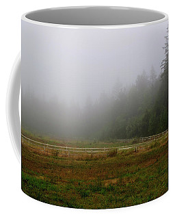 Coffee Mug featuring the photograph Morning Mist Solitude by Tikvah's Hope