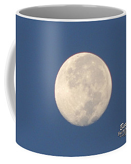 Coffee Mug featuring the photograph Morning Moon by Barbara Tristan