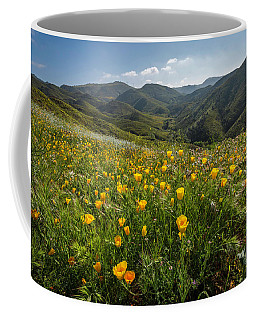 Morning Poppy Hillside Coffee Mug