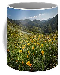 Morning Poppy Hillside Coffee Mug