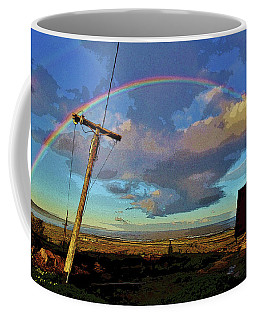 Morning Rainbow Over Kalaupapa Coffee Mug by Craig Wood