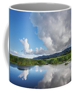 Morning Reflections On A Marsh Pond Coffee Mug by Greg Nyquist