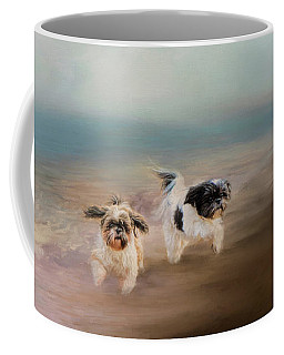 Morning Run At The Beach Coffee Mug