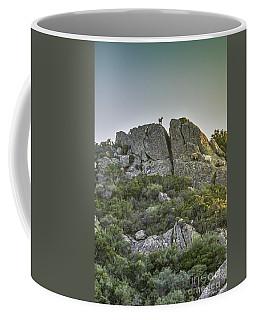 Morning Sun Lit Rocky Hill Greece Coffee Mug