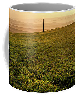 Coffee Mug featuring the photograph Morning Sun. Moravian Tuscany by Jenny Rainbow