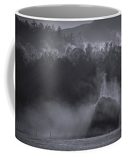 Coffee Mug featuring the photograph Morning Sun Rising Fog Cades Cove by Dan Sproul