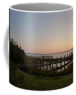 Coffee Mug featuring the photograph Morning Sunrise Over Assateaque Island by Donald C Morgan
