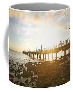 Morning Sunshine At The Pier  Coffee Mug