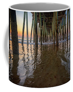 Coffee Mug featuring the photograph Morning Under The Pier, Old Orchard Beach by Rick Berk