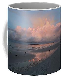 Coffee Mug featuring the photograph Morning Walk On The Beach by Kim Hojnacki